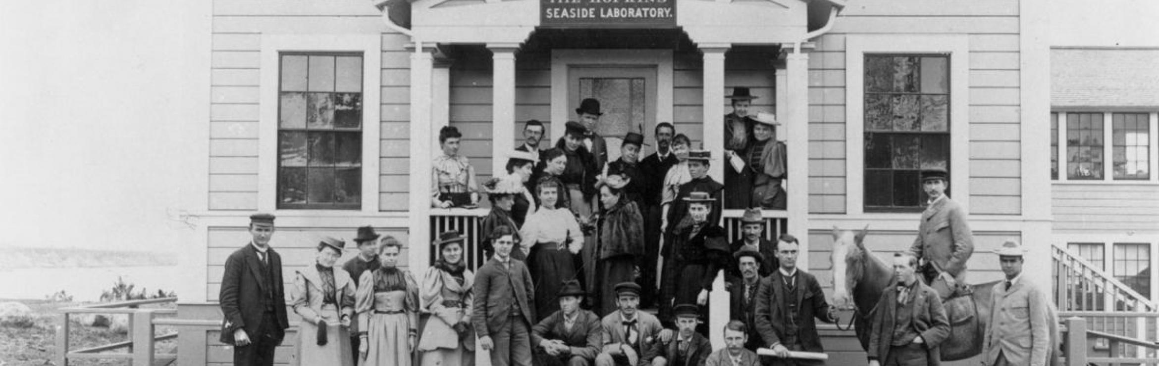Hopkins Seaside Laboratory at Monterey Bay, 1892