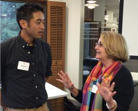 photo of oral history editor Everett Yeh and committee chair Susan Schofield
