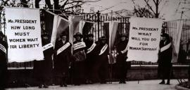 Women's suffrage protest