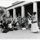 Groups of women students in a folksinging group